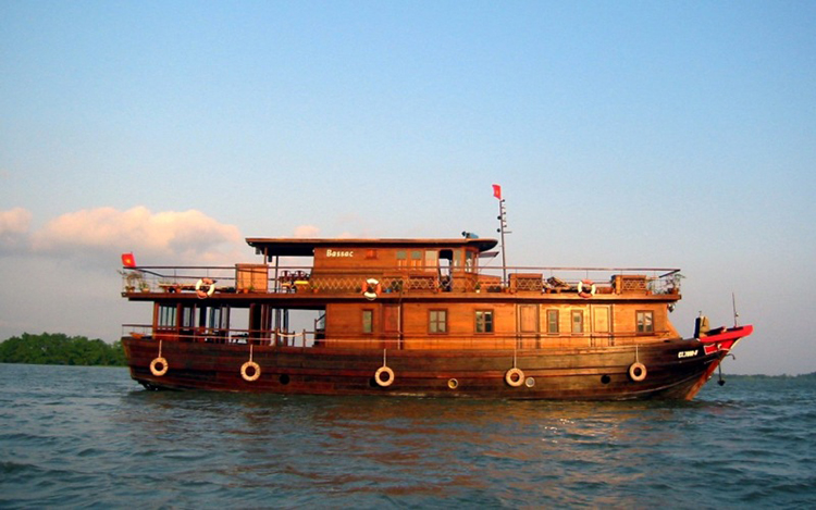 Cruising on Mekong River