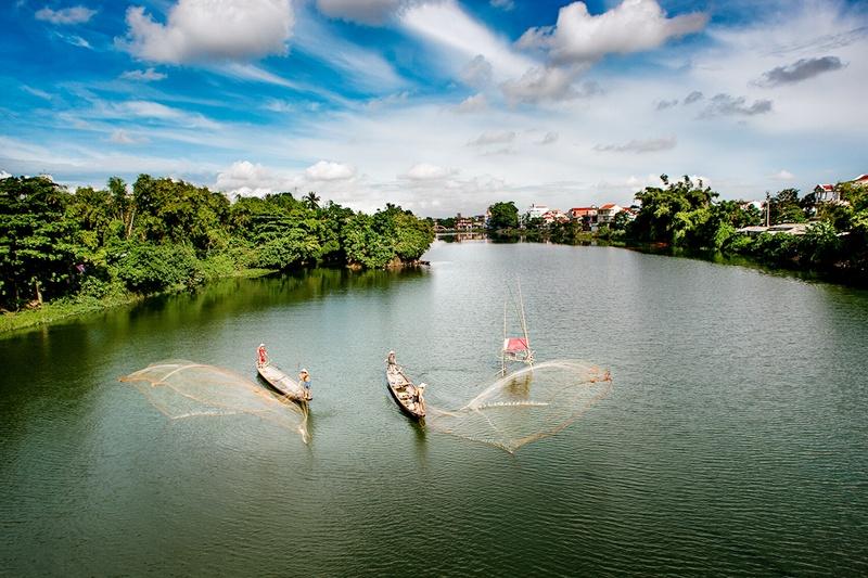 Huong River in Hue
