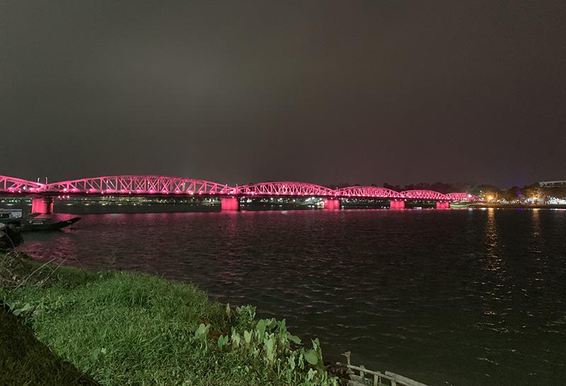Huong River at night