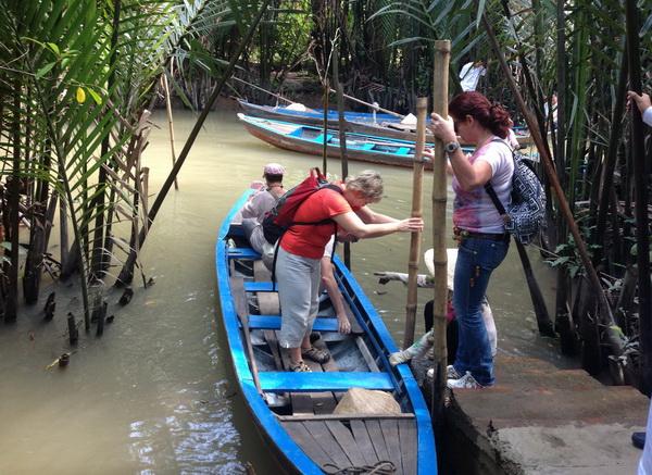 Rowing Boat in Mekong