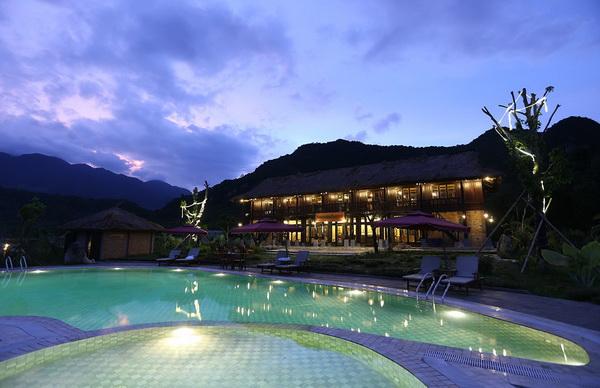 Swimming Pool at Mai Chau Ecolodge