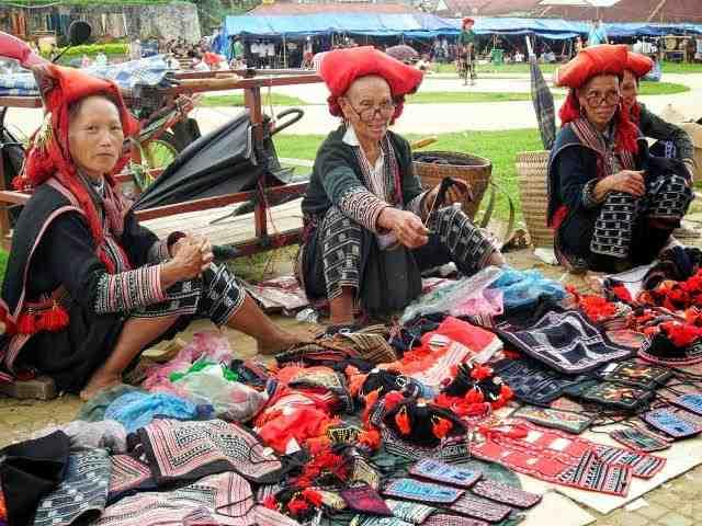 Flower Hmong Tribe in Bac Ha Market
