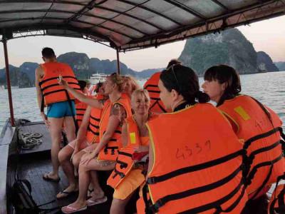 Visiting Fishing Village in Halong Bay