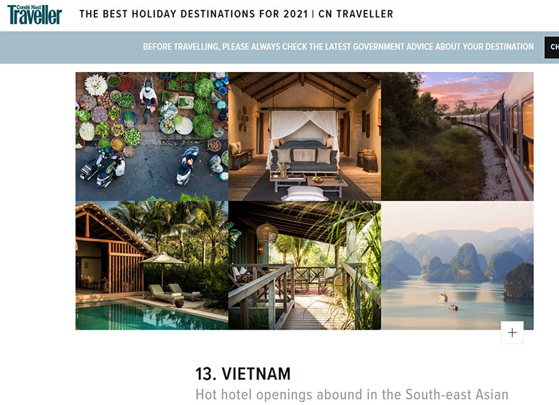 Vietnam listed among top holiday destinations after COVID-19