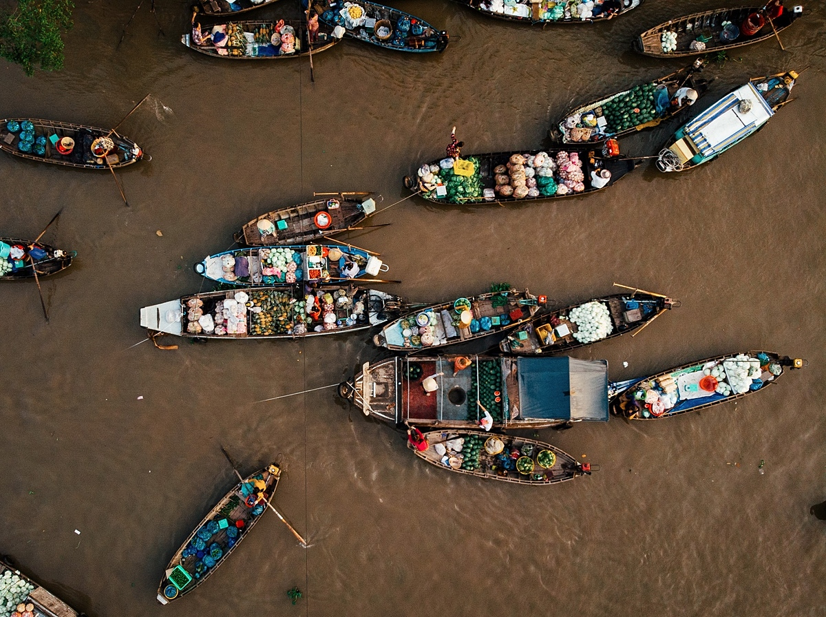 Mekong Delta floating markets through a foreign lens