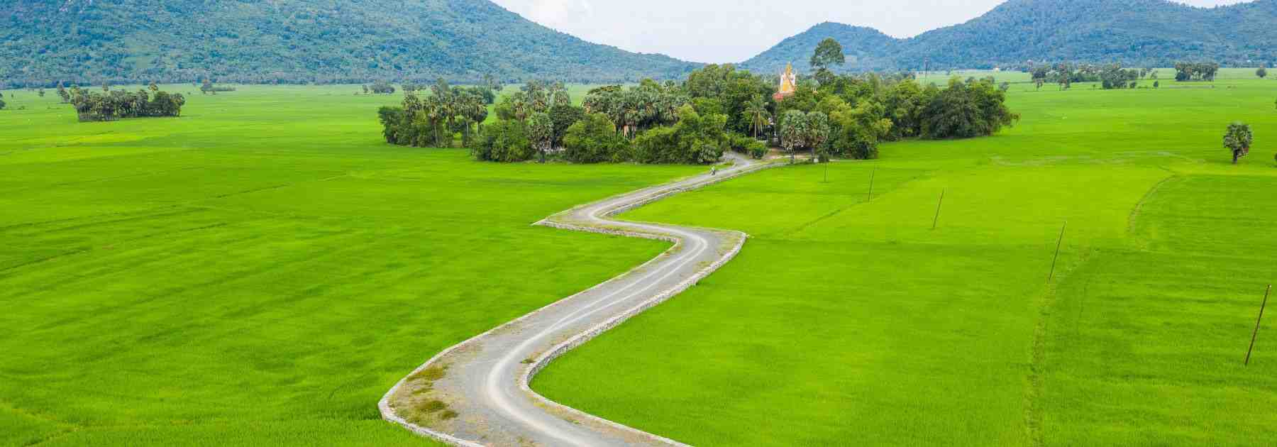 Chau doc biking road